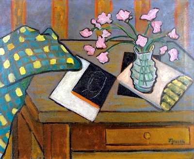 Still Life with Pink Flowers