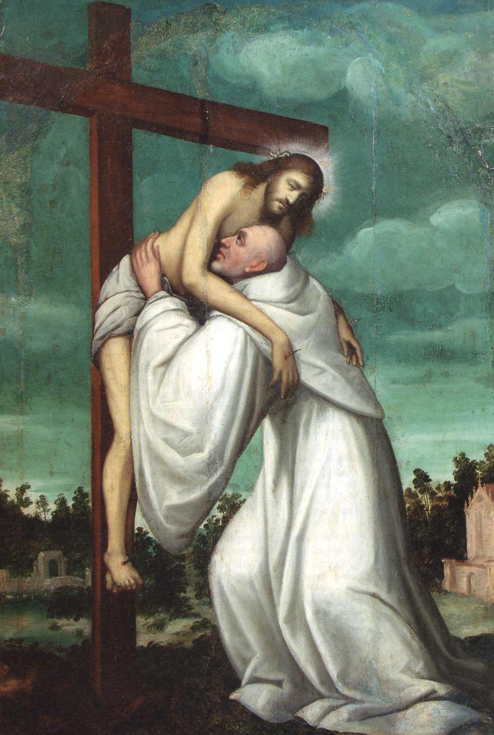 Christ Embraces St. Bernard of Clairvaux