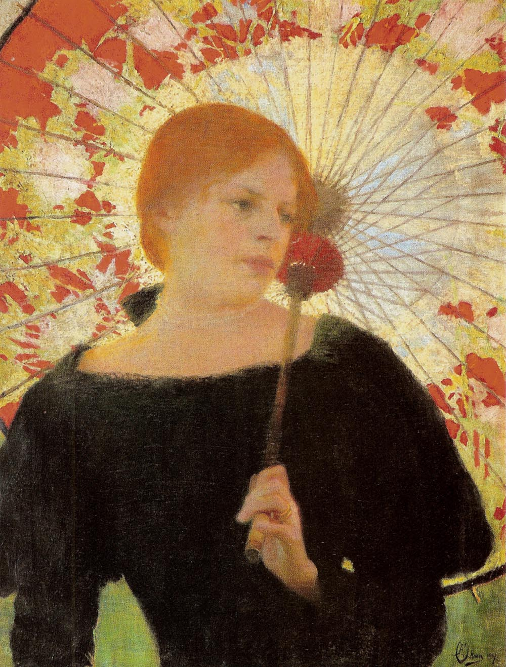 Portrait of the Artist's Wife with an Umbrella