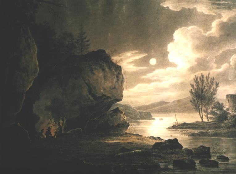 Landscape with Water in Moonlight