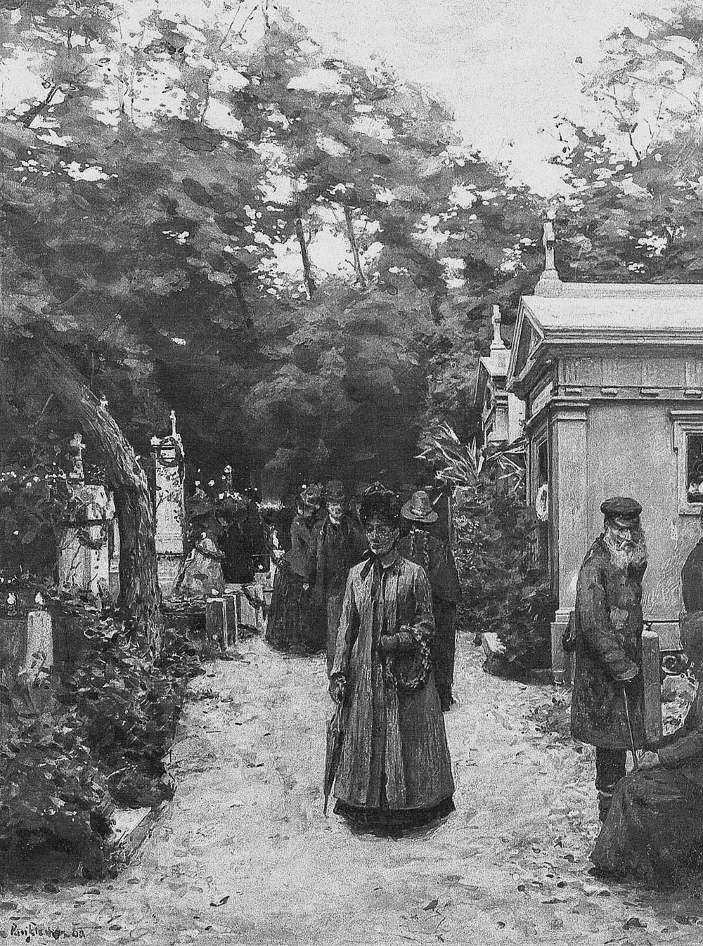 All Souls' Day at Powązki Cemetery in Warsaw