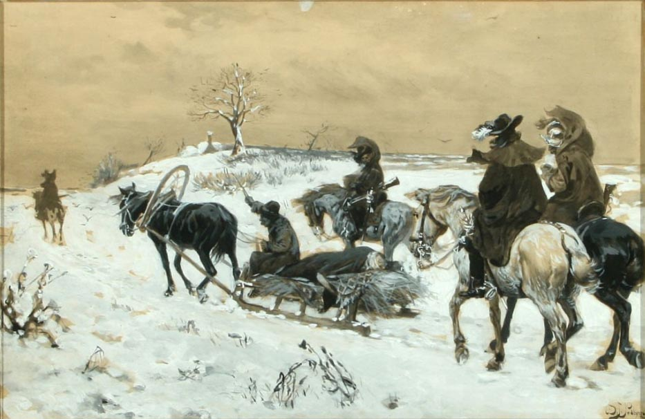 Winterscene with Soldiers