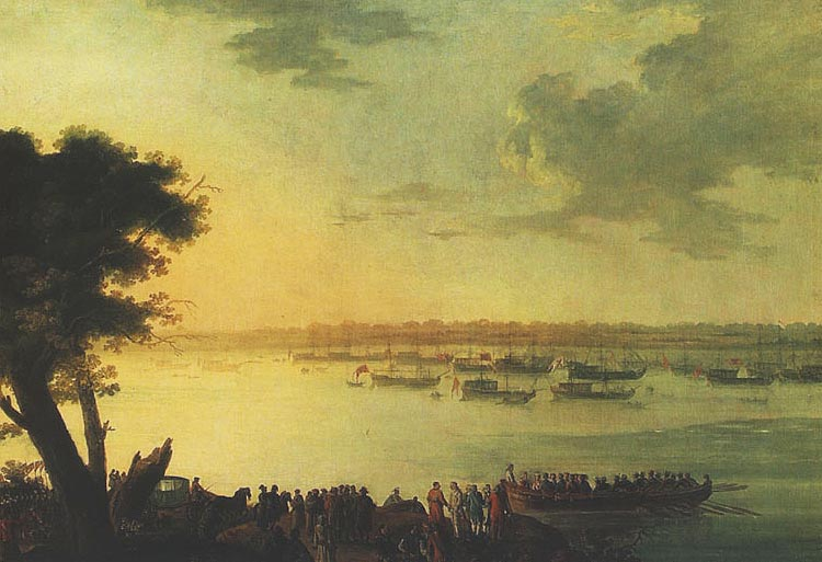 Departure of Catherine the Second from Kaniow in 1787