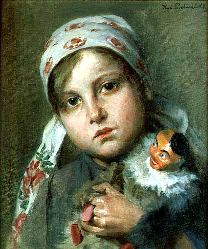 Girl with a Puppet