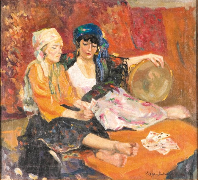 Gypsy Women Telling Fortunes by Cards