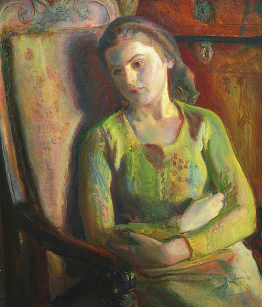 Girl Sitting in an Armchair