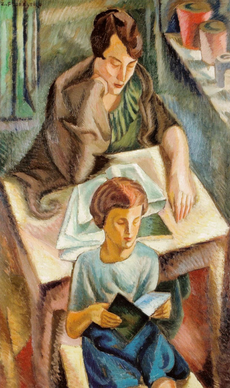 Artist's Wife with a Boy at a Table