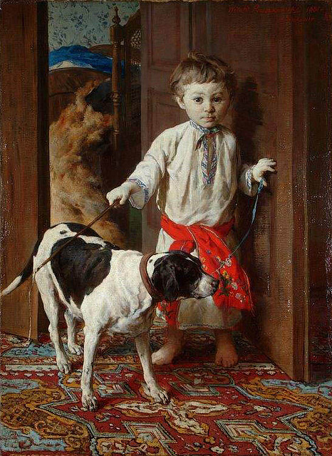 Artist's Son with a Dog