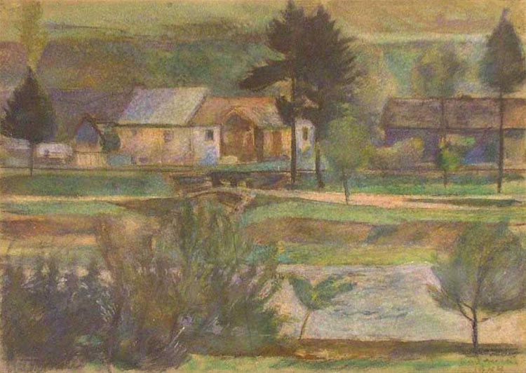 Houses in Green Landscape