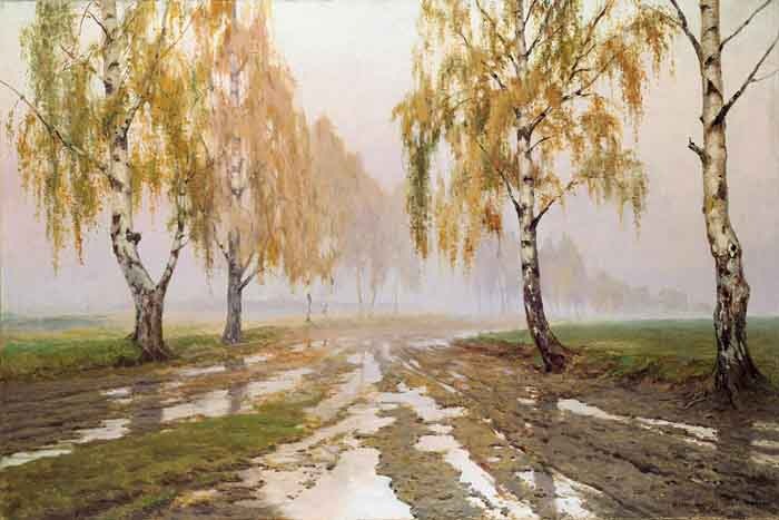 Road among Birches