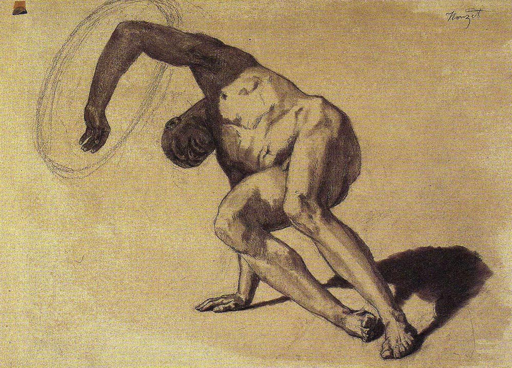 Study of the Wounded Turk