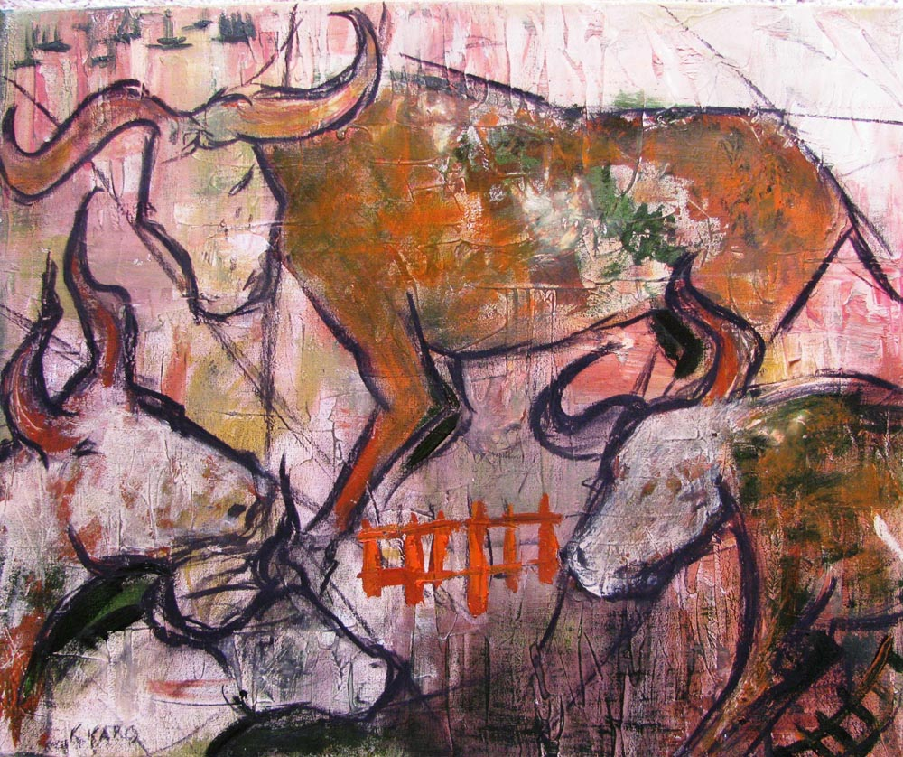 Cave Paintings of Bulls