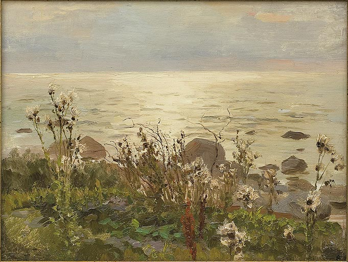 Thistles on the Seashore. Rugia