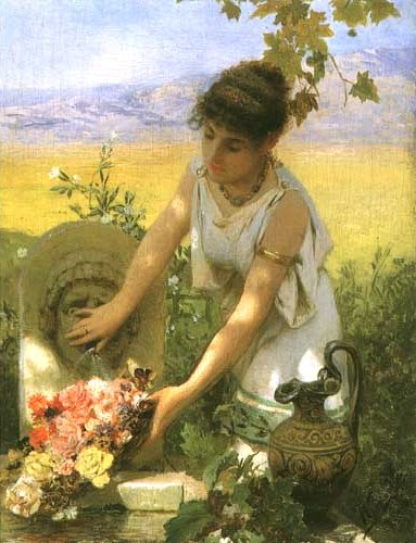 Girl at the Spring