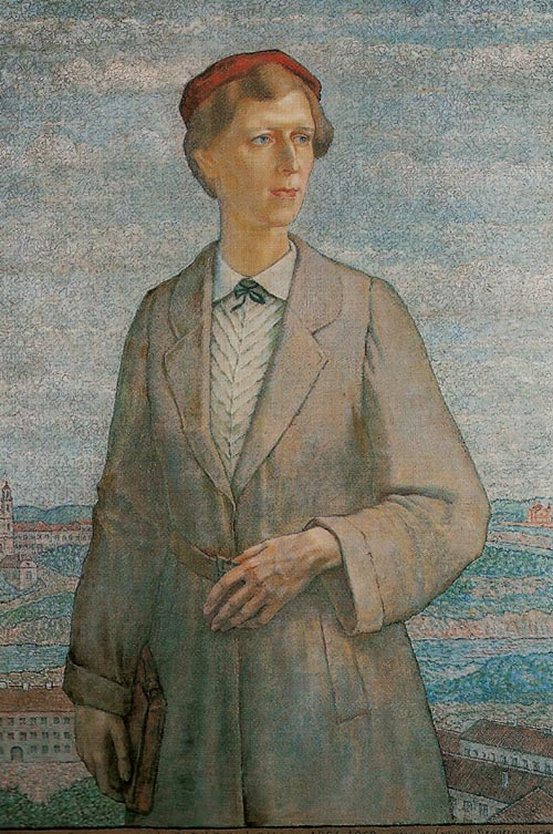 Portrait of Artist's Wife on the Background of Vilnius
