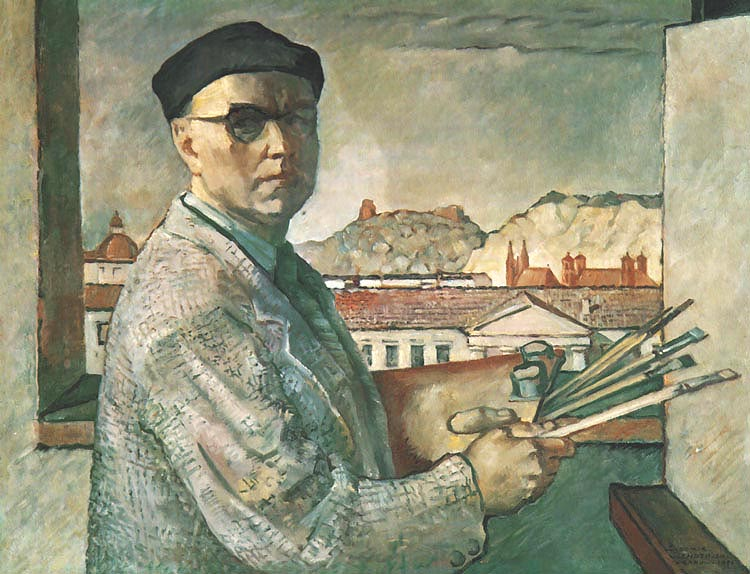 Self-Portrait on the Background of Vilnius