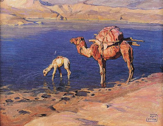 Camels at a Watering-Place