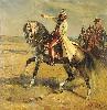 Oficerowie na koniach