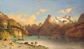 Alpine Landscape with a Lake