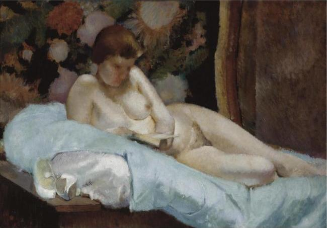 Reclining Nude Reading