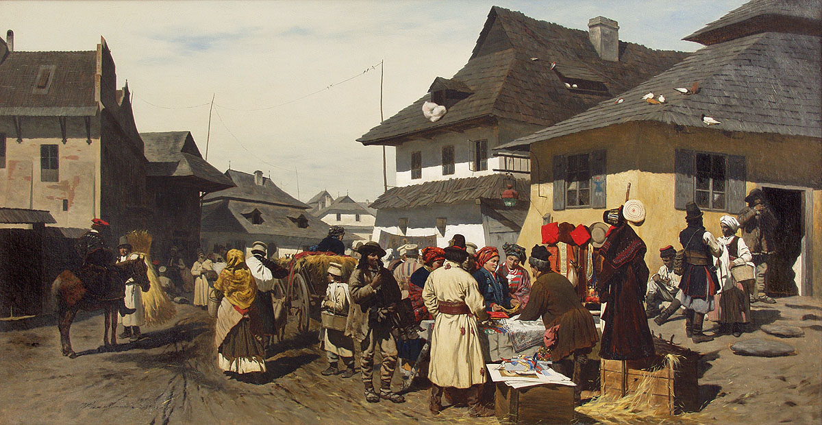 Market in a Town near Cracow