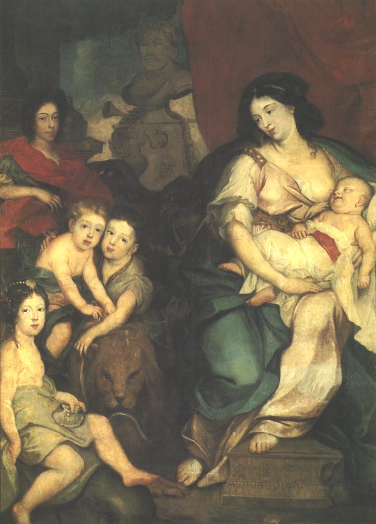 Portrait of Queen Maria Kazimiera with Children