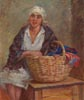 Young Woman with Washing Basket