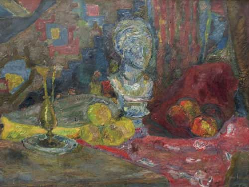 Still Life with a Bust and a Candlestick