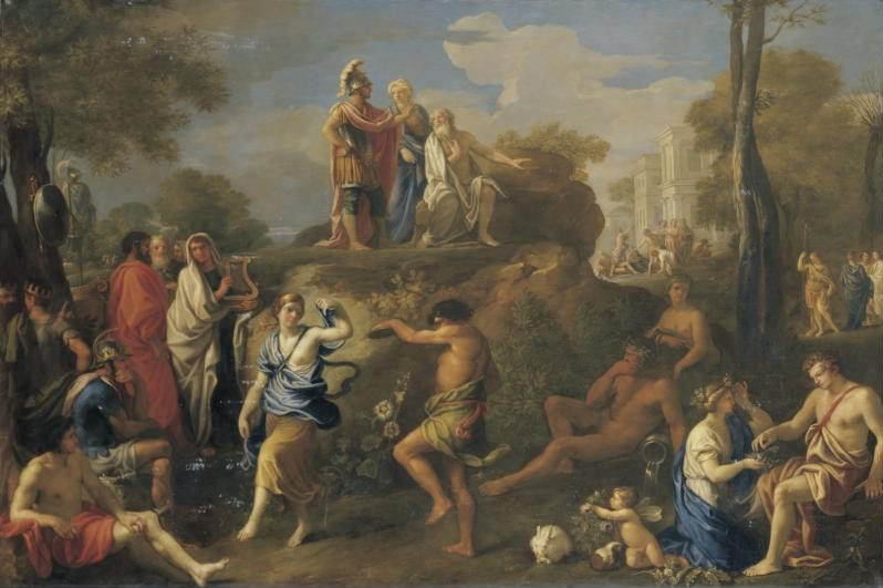Aeneas and Anchises in Hades