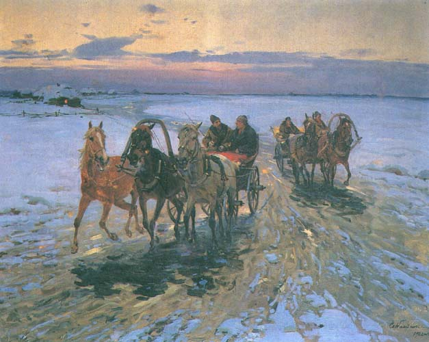 Horse-Drawns in Winter