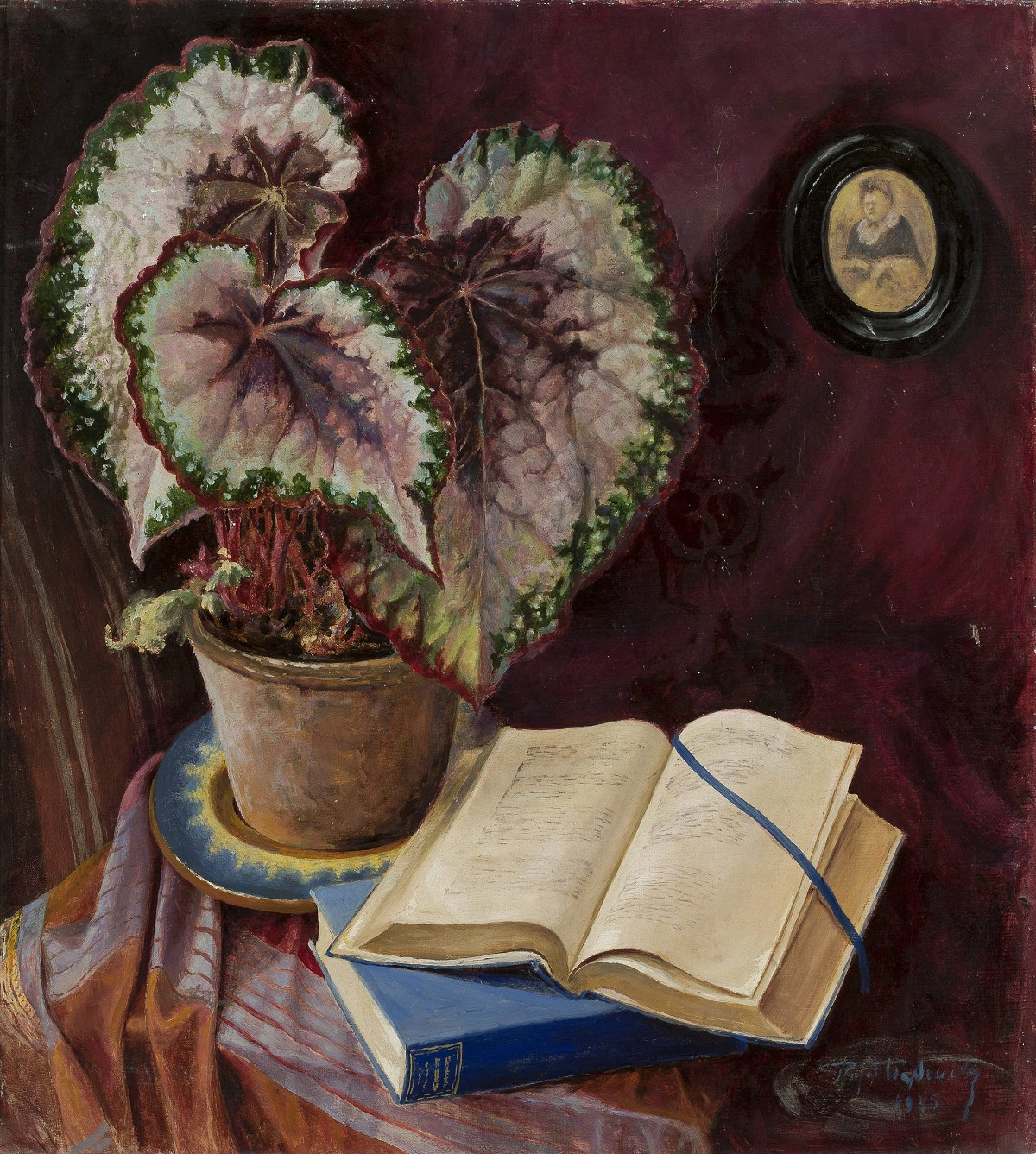 Begonia and Books