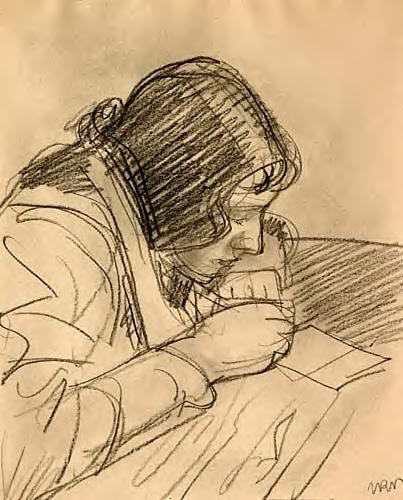 Aneri Writing a Letter