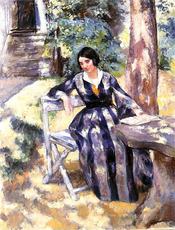 Artist's Wife in the Garden