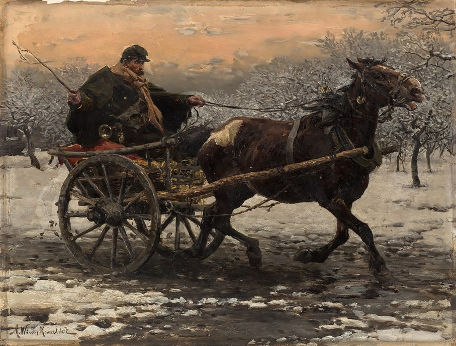 Horse & Cart in the Snow