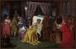Aleksander Sobieski on his Deathbed in Rome in 1714