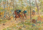Lichtenstein Dragoons on Patrol near Dunajov (the First Battle of Lemberg)