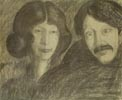 Portrait of Irena Solska and a Man