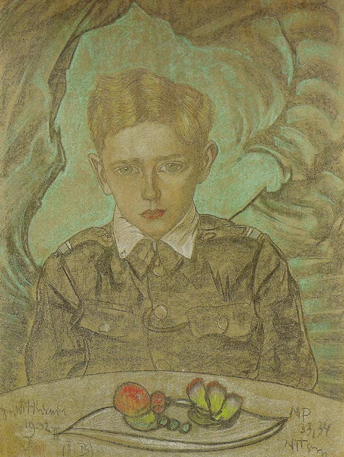 Portrait of Jerzy Komorowski at the Age of 11