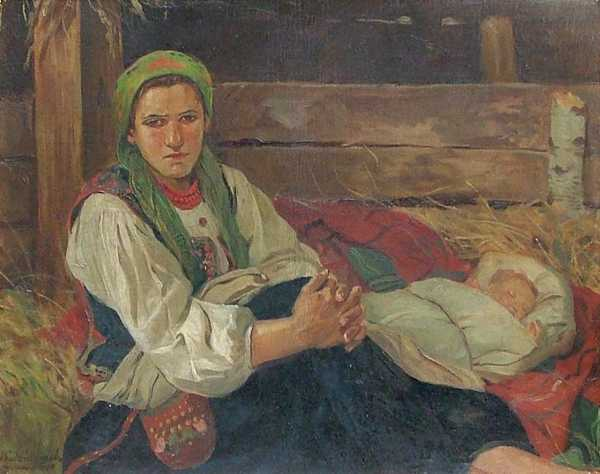 Woman with a Sleeping Child