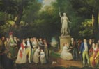 Society Gathering in a Park