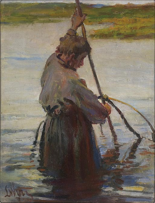 Fisherman with a Net