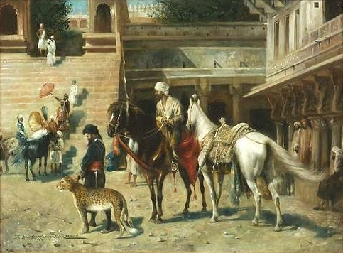 In the yard of the Maharaja's Palace