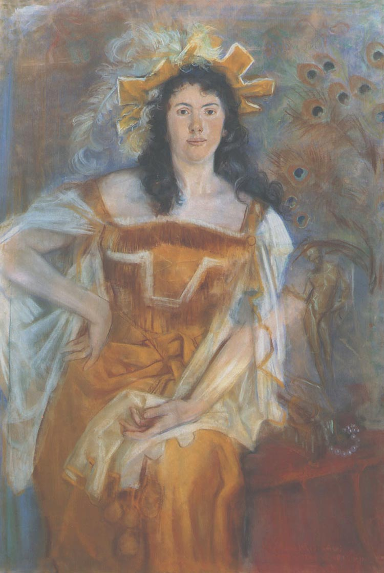 Portrait of Honorata Leszczynska as Katharina in Shakespeare's