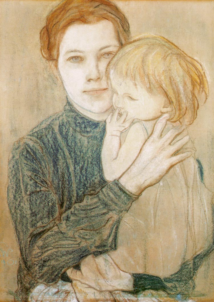 Portrait of Salomea Hankiewiczowa and Her Daughter