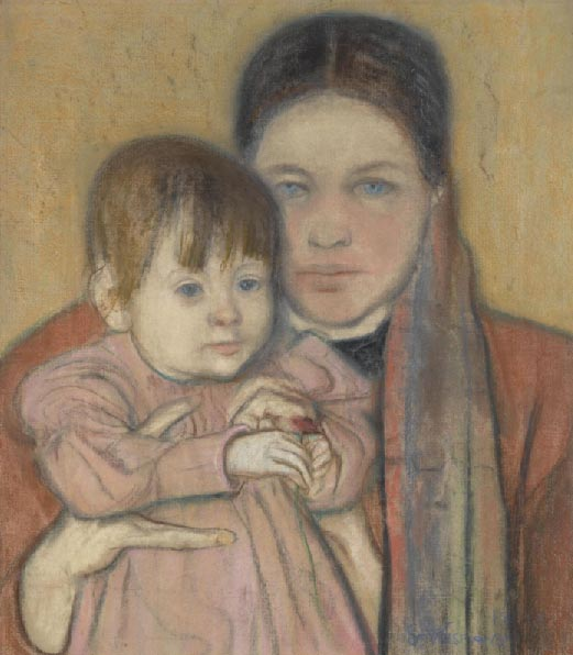 Artist's Wife and Daughter
