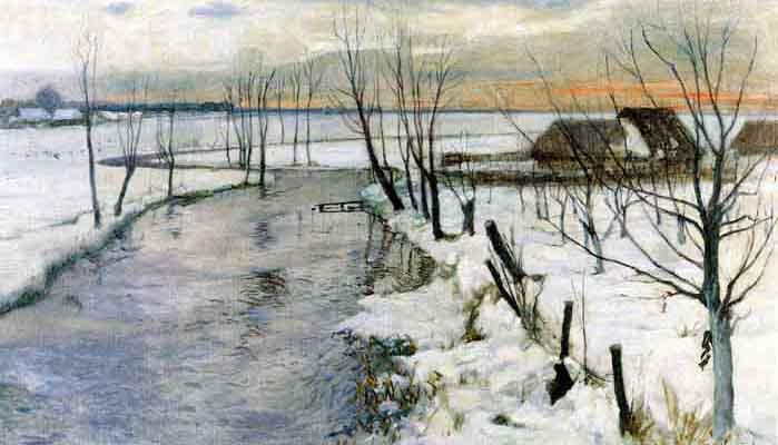 Winter Landscape with a Stream