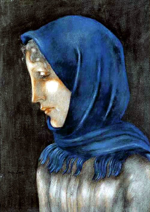 Woman in a Blue Shawl