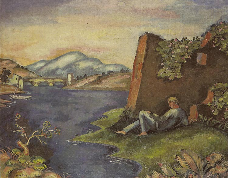 Idyll - Landscape with a Reclining Man