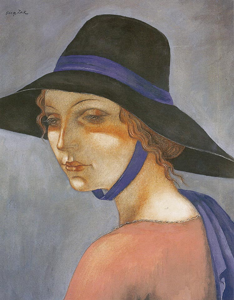 Portrait of a Young Woman in a Hat (Jadwiga Zak)