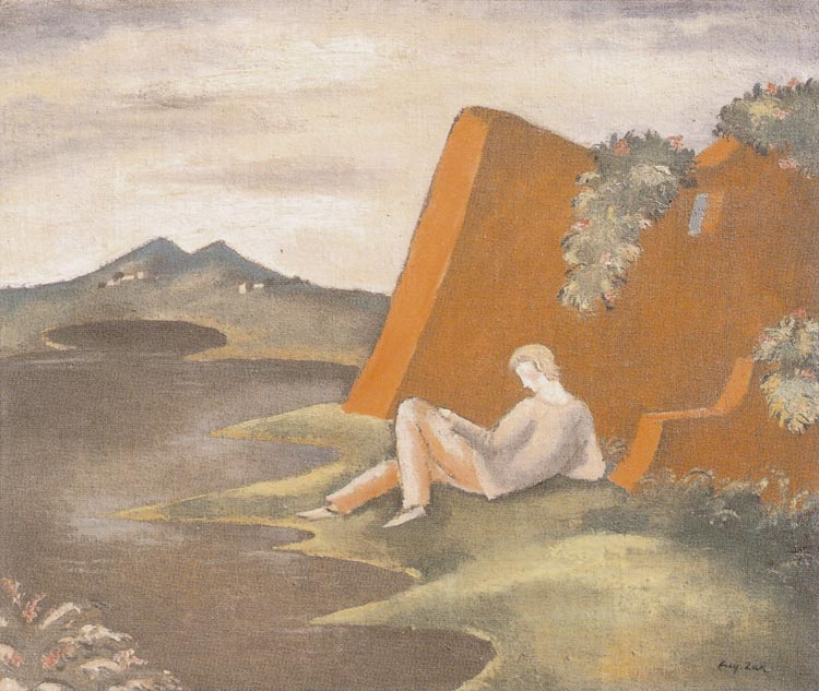 Idyll - Landscape with a Reclining Young Man
